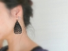 Knit Earrings 3d printed