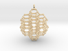 7 sided honeycomb cluster pendant 3d printed