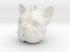 French bulldog head 3d printed