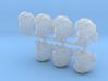 Flying Bucketheads (x7) 3d printed