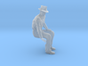 1-24 Fred sitting on bench wearing hat 3d printed