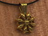Flower Jewel 3d printed Close up in Gold