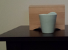 Dual Cup 3d printed Side view.