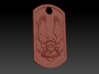 UNSC Halo Themed Dog Tag 3d printed