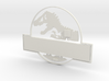 Version 2 Jurassic World Nametag White Pieces 3d printed