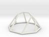"Minimal ""irregular"" polyhedron 3d printed"