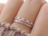 Scalloped Heart Edge Ring (Multiple Sizes) 3d printed Scalloped Heart Edge and 'With You Always' Ring in Polished Silver with Aftermarket Patina