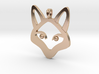 Small Fox 14K Gold Jewelry Necklace  3d printed