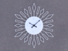 Sunburst Clock - Beverly 3d printed Render of clock face with hands added