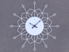 Sunburst Clock - Buffy 3d printed Render of clock face with hands added