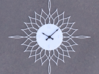 Sunburst Clock - Willow 3d printed Render of clock face with hands added