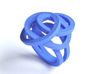 Mess Ring 3d printed blue plastic ring