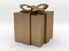 Golden Giftbox Pendant 3d printed