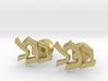 "Hebrew Monogram Cufflinks - ""Beis Tzaddei Chof"" 3d printed"