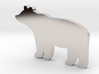Eden Bear Pendant and Chain Necklace 3d printed Eden Bear Rhodium Plated Pendant and Chain Necklace