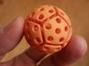bouncing cat toy ball perforated size S 3d printed