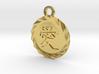Kanji Love Pendant 3d printed Polished Brass Deep Engraved Kanji Love Pendant