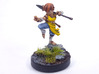 Halfling Monk 3d printed Painted with acrylic paint and mounted on a custom 1 inch base.