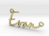 Evan Script First Name Pendant 3d printed