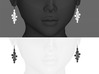 twist pair earing/parts 3d printed white, black strong&flexible