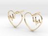 Heartbeat Earrings 3d printed