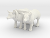 S Scale Oxen 3d printed This is a render not a picture