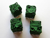 Fudge Botanical Die6 (Tulip Tree) 4d6 Set 3d printed In Green Strong & Flexible Polished