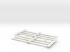 Wood Rail Fence - 2R (2 ea.) 3d printed Part # WRF-005