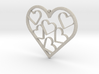 Hearts Necklace / Pendant-07 3d printed