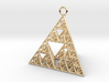 Sierpinski Tetrahedron earring with 32mm side 3d printed