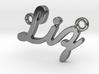 """Custom Name Pendant """"Liz"""" 3d printed"""