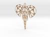 Elephant Voronoi Pendant 3d printed