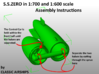 British S.S.Zero of WW1 3d printed Assembly Instructions page 1 of 2