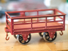 FRC01 FR 2 Ton Slate Wagon Body (Unbraked) SM32 3d printed Assembled with AB01 Axleboxes and Slater's Web Spoke wheels.
