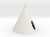 HO Scale Teepee 3d printed this is a render not a picture