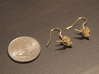 Nautical Swallow Earrings 3d printed Quarter for Scale. An order only includes a single earring. If you want two earrings add two to your cart.