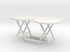 c-1-35 cafe tables  1/35 scale 3d printed