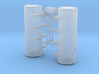 1/87th Twin Brine Deicer Tanks for Tow Plow 3d printed