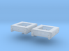 1/100 DKM Schnellboot Midship Life Rafts Set 3d printed