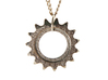24mm Bicycle Track Sprocket Pendant 15t 3d printed Stainless Steel