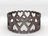 heart symmetric ring size 5 3d printed
