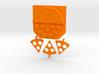 "Key hanger ""pizza"" 3d printed"