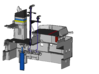 Apache fleet tug, gearbox for radar 3d printed cross section of installation of gearbox