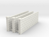 5' Block Wall - 3-Long Jointed Sections 3d printed Part # BWJ-002