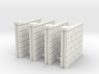 5' Block Wall - 4-Short Jointed Sections 3d printed Part # BWJ-009
