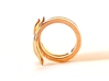 TAILS ring 3d printed Polished Bronze