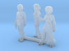 HO Scale Female Robbers 3d printed This is render not a picture