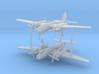 1/285 (6mm) Kogiken Plan VIII bomber project (x2) 3d printed