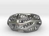 Chunky Voronoi Sterling Silver / Gold Bracelet 3d printed