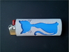 BIC Sleeve Cats 3d printed Cat lighter sleeve with a blue lighter